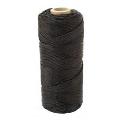 Cordeau noir tressé